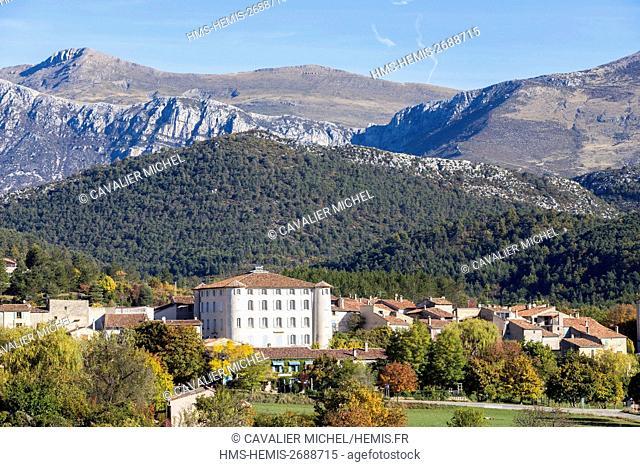 France, Alpes de Haute-Provence, regional natural reserve of Verdon, the village of Palud-sur-Verdon