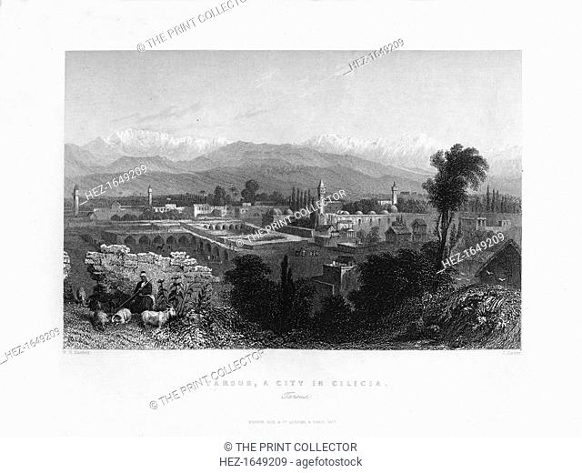 Tarsus, Turkey, 1841. From Syria, the Holy land and Asia Minor, volume I, by John Carne, published by Fisher, Son & Co. (London, 1841)