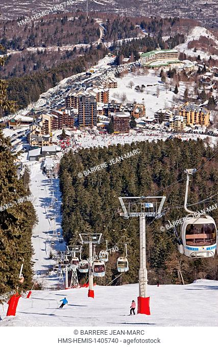 France, Ariege, Ax les Therme, Ax 3 Domaines ski resort
