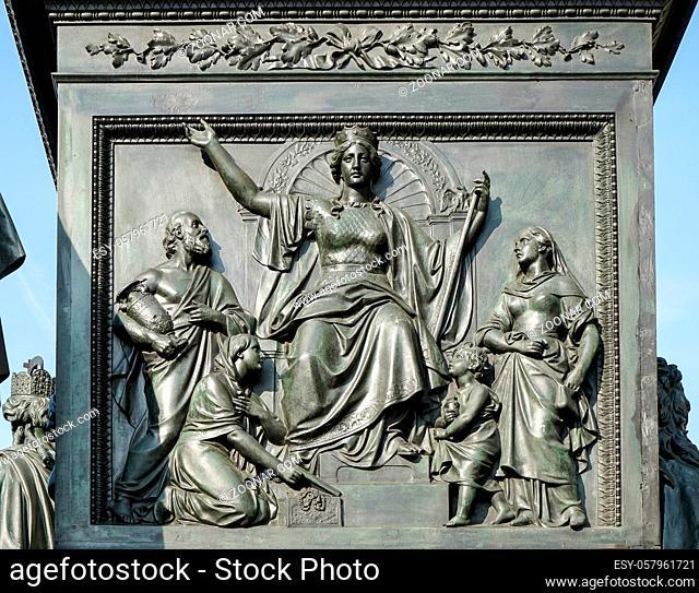 Detail from the monument to Baron Freiherr von Stein in front of the Abgeordnetenhaus in Berlin