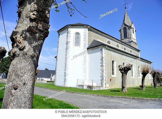 Church of Sant Jean Baptiste in La Barthe de Neste, Midi-Pyrenees, France