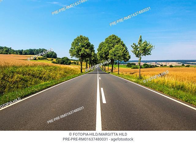 Bundesstrasse 3 between Dransfeld and Wellersen, Göttingen district, Lower Saxony, Germany, summer 2017 / Bundesstraße 3 zwischen Dransfeld und Wellersen