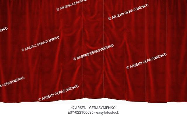 Red dropping Curtain