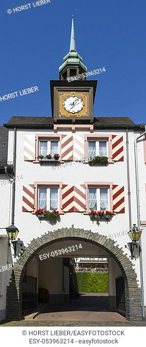 Hotel Lindenwirt, a tourist attraction in Ruedesheim. Hesse, Germany, Europe