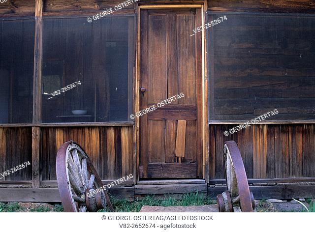 Frederick Riddle House door, Riddle Ranch National Historical District, Steens Mountain Recreation Area, Oregon