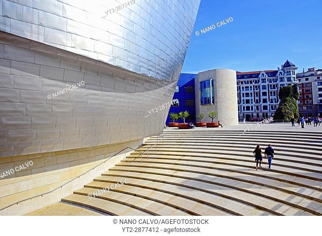 The Guggenheim Museum Bilbao is a museum of modern and contemporary art, designed by Canadian-American architect Frank Gehry, and located in Bilbao
