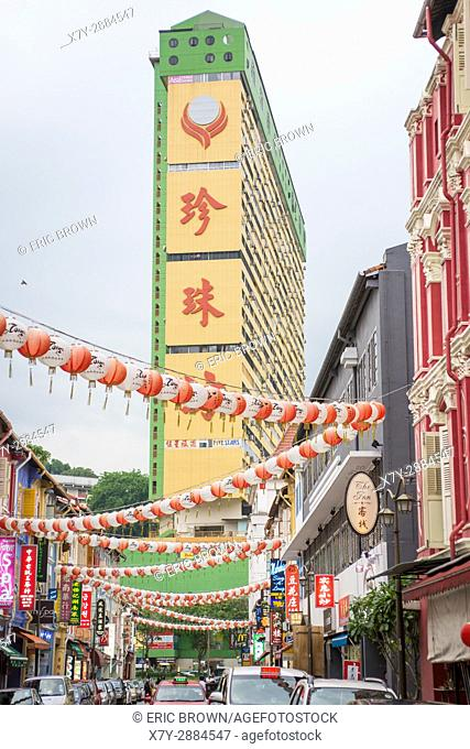 In the Chinatown section in Singapore