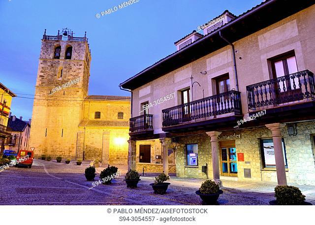 Church of Nuestra Señora del Manto in Riaza, Segovia, Spain