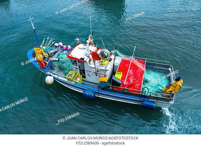 Fishing port, Llanes town, Llanes Council, Asturias, Spain, Europe