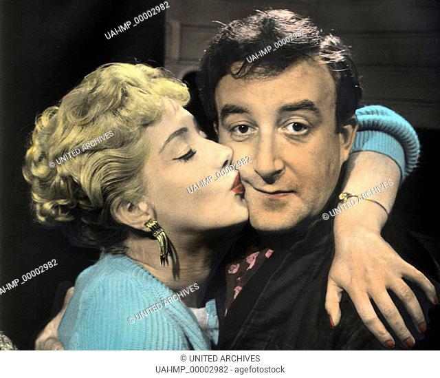 Die grüne Minna, (TWO-WAY STRETCH) GB 1960, Regie: Robert Day, LIZ FRASER, PETER SELLERS, Stichwort: Umarmung, Kuß