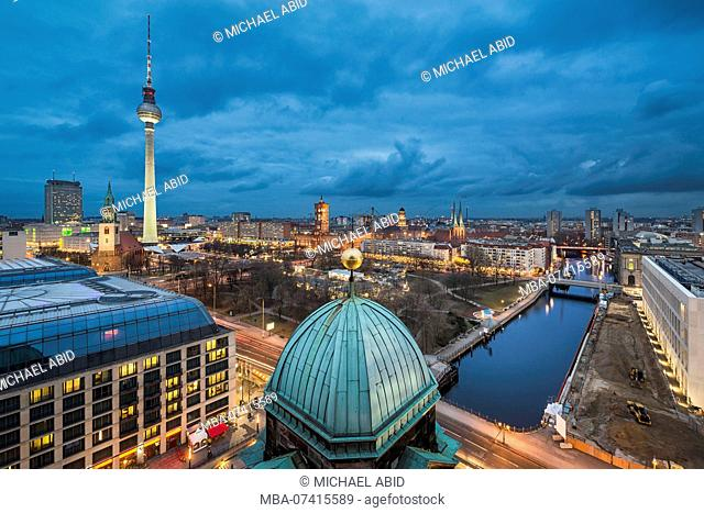 Night skyline of Berlin, Germany