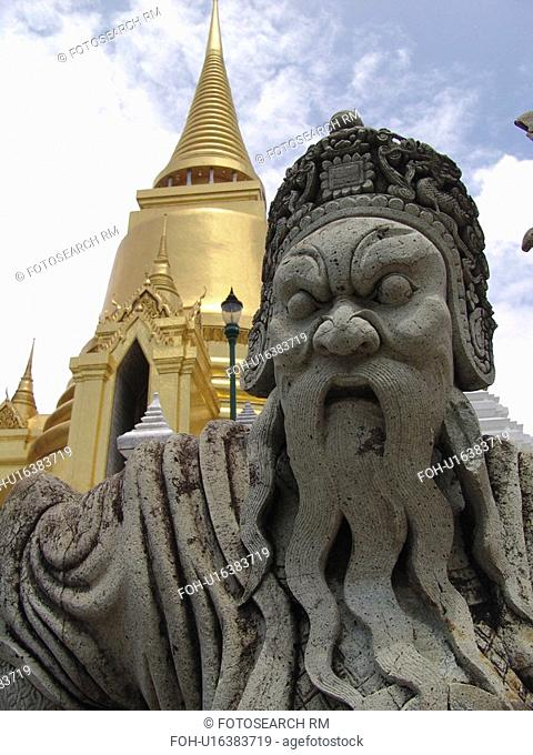 details, person, architectural, statue, thailand, people