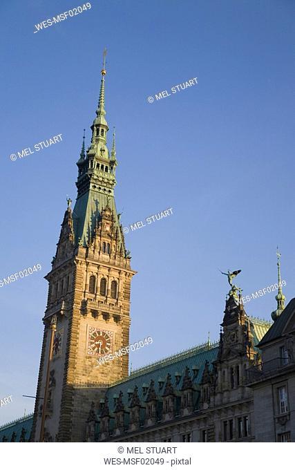 Germany, Hamburg, Hanseatic city, town hall steeple