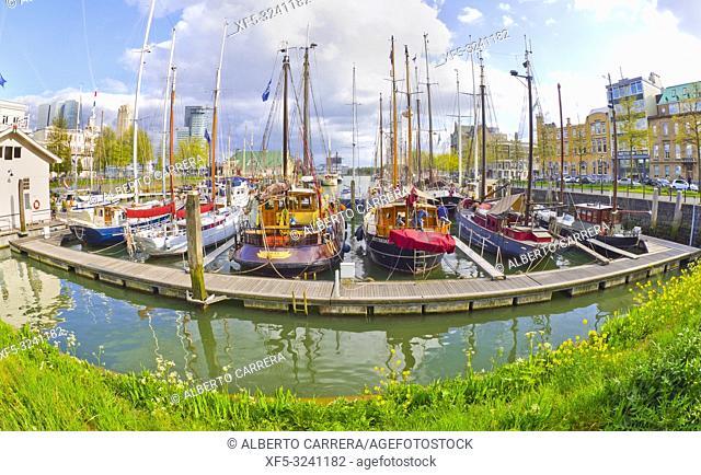 Veerhaven Inner Harbour, Scheepvaartkwartier protected Urban Landscape, Rotterdam, Holland, Netherlands, Europe
