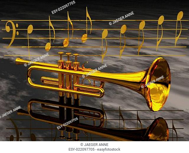 the trumpet and the notes
