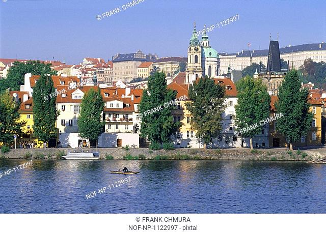 The Mala Strana district in Prague, Czech Republic