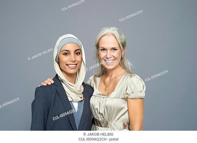 Studio portrait of two businesswomen