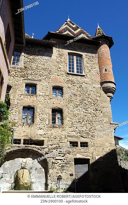 St Antoine l'abbaye, Isere , Rhone Alpes, France, Europe