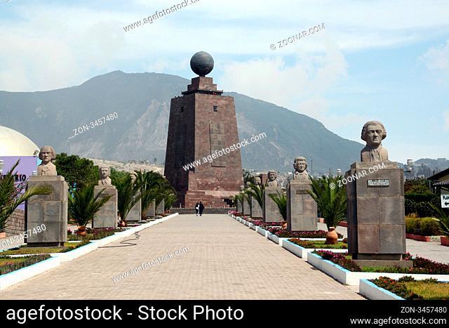 Way to monument of ecuator near Quito in Ecuador