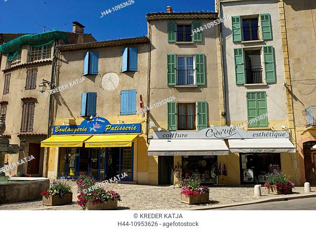 France, Europe, Provence, South of France, Valensole, houses, homes, buildings, constructions, architecture, house facade, house facades, building facade