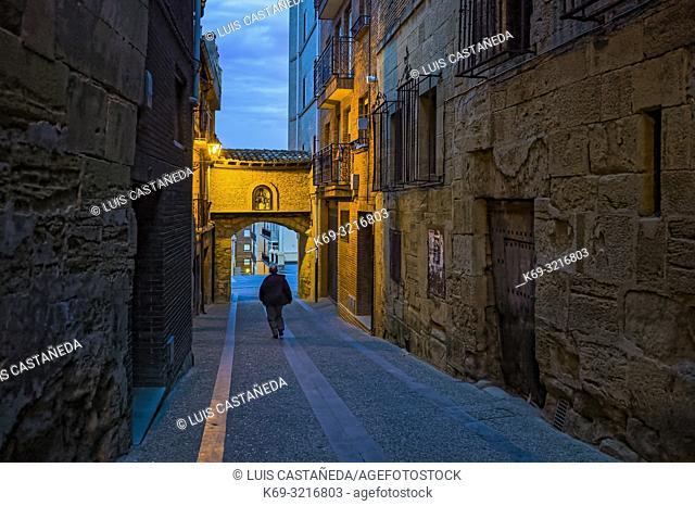 Street in Viana. Logroño. Spain