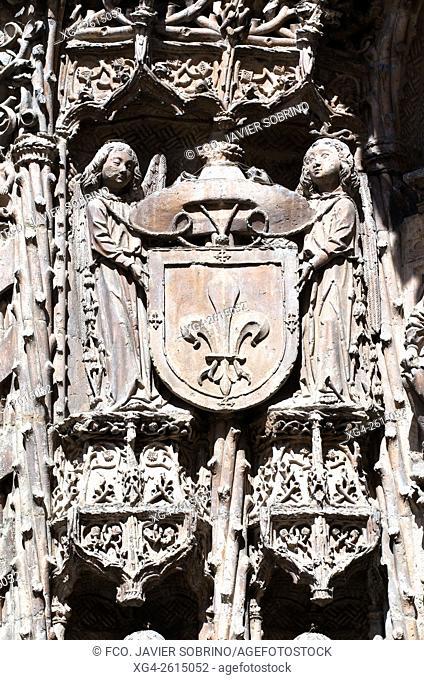 """Detalle de la portada â. """" Colegio de San Gregorio â. """" Museo Nacional de Escultura - Valladolid â. """" Castilla Y León - España â. """" Europa"""