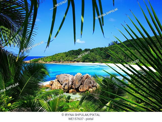 Anse Cocos Beach, Island La Digue, Indian Ocean, Republic of Seychelles