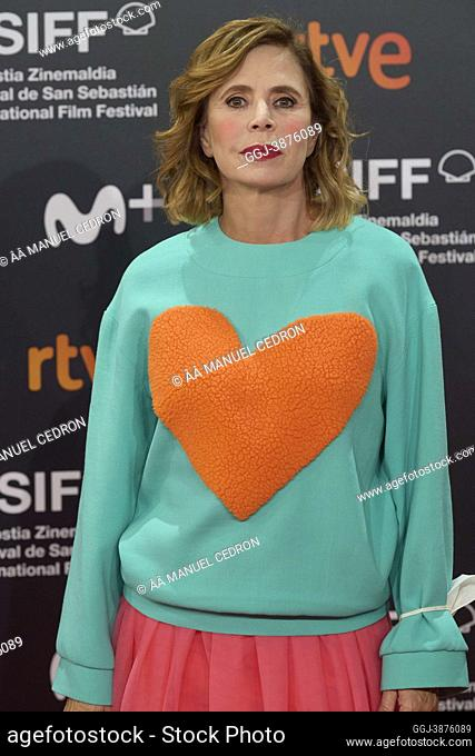 Agatha Ruiz de la Prada attended 'The grandmother' Red Carpet during 69th San Sebastian International Film Festival at Kursaal Palace on September 24