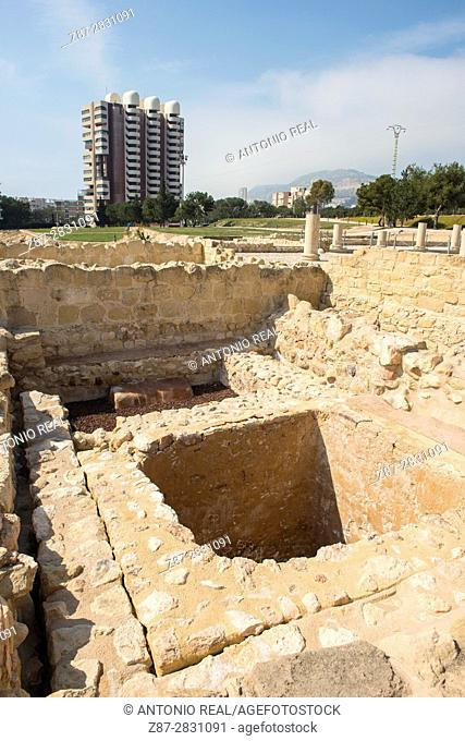 Lucentum archaeological site, Iberian-Roman city, Alicante province, Spain