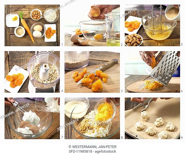 How to prepare carrot & almond macarons