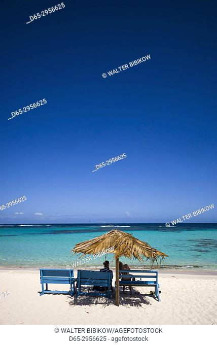British Virgin Islands, Anegada, Loblolly Bay Beach, beach view