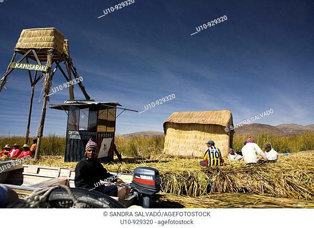 Lago Titicaca  Reserva Nacional del Titicaca  Islas Uros  Perú