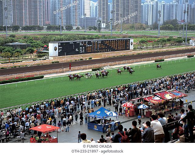 Horse racing, Shatin, Hong Konb
