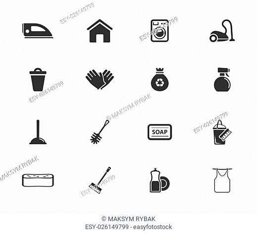 Cleaning service simply symbol for web icons and user interface