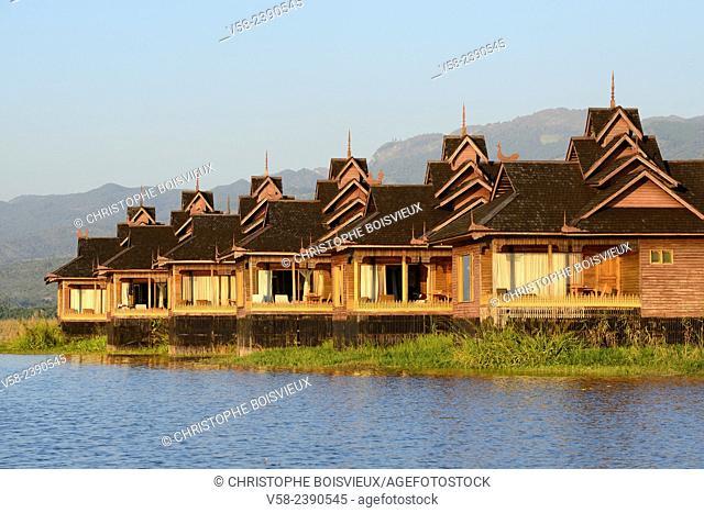 Myanmar, Shan State, Inle Lake, Inle Resort Hotel