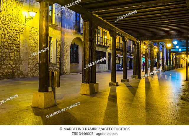 Calle Mayor - Main street. Burgo de Osma, Soria, Castilla y León, Spain, Europe