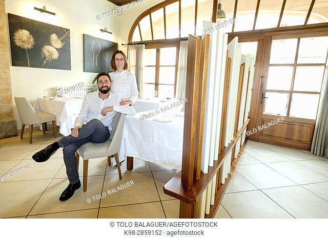 Caterina Pieras y David Ribas, Restaurante y petit Hotel Daica, Llubí, Mallorca, balearic islands, spain