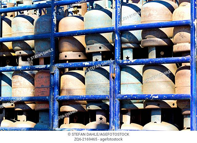 Gas Bottles in Angeles City, Luzon, Philippines