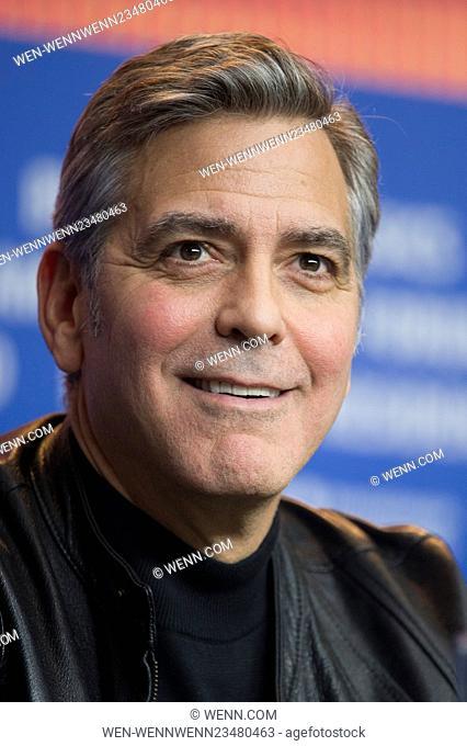 66th Berlin International Film Festival (Berlinale) - 'Hail, Caesar! - Press Conference Featuring: George Clooney Where: Berlin