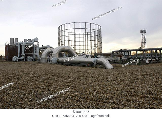 Gas Pipe station, Beckton, East London, UK