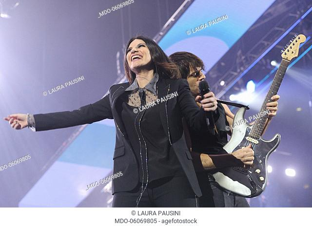 Laura Pausini in concert at the Palalottomatica in Rome. Rome, October 30th, 2018
