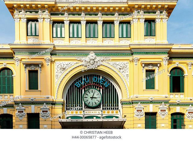 Asia, Asian, Southeast Asia, Vietnam,Ho Chi Minh City, Central Post Office
