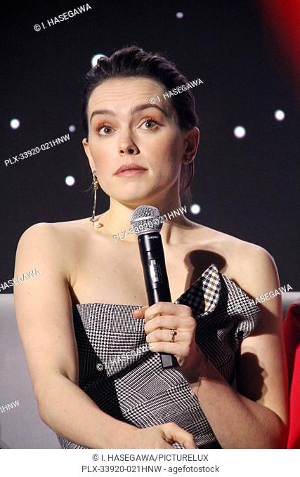 """Daisy Ridley 12/04/2019 """"""""Star Wars: The Rise of the Skywalker"""""""" Press Conference held in Pasadena, CA. Photo by I. Hasegawa / HNW / PictureLux"""