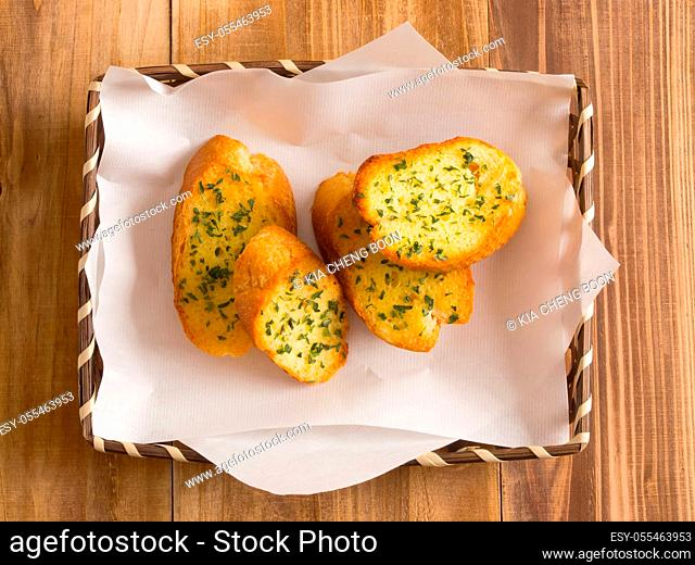 herb baguette, garlic baguette