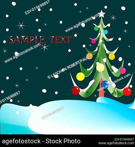 christmas tree composition
