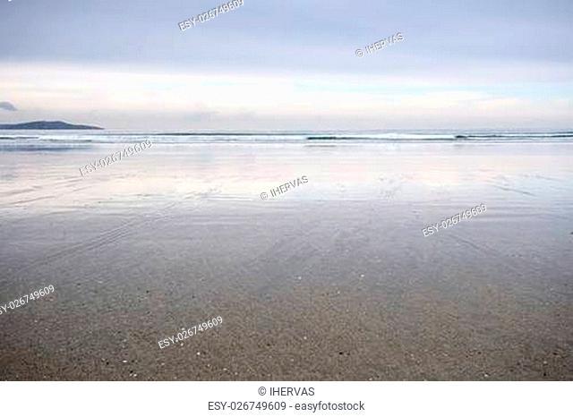 La Lanzada Beach, Pontevedra, Galicia, Spain. It is one of the top three beaches in Galicia