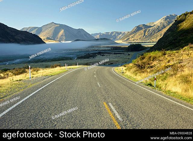 West Coast Road no. 73, Purple Hill, Arthur's Pass National Park, Canterbury, South Island, New Zealand, Oceania