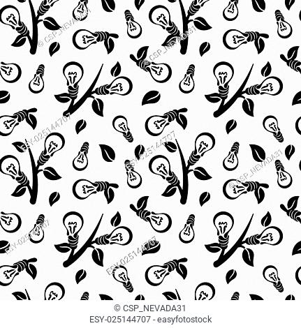 Ecology abstract seamless pattern