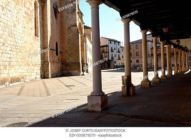 Cathedral and arch of El Burgo de Osma, Soria province, Castilla-Leon, Spain