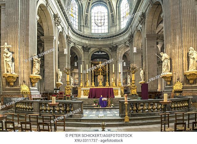 Innenraum der katholischen Pfarrkirche Saint-Sulpice, Paris, Frankreich   Roman Catholic Church of Saint-Sulpice interior, Paris, France